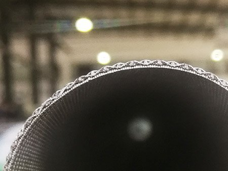 Side view of a filter tube made of all Dutch weave sintered wire mesh
