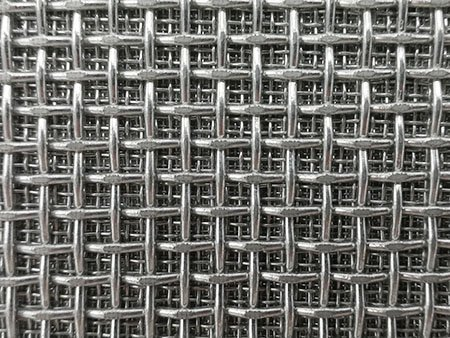 All square weave sintered wire mesh, coarse mesh on top of multi layer of fine mesh