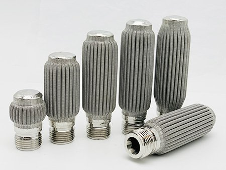 6 pieces of pleated metal filter for filter candle screen changer, with same diameter but different length