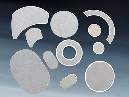 Wire mesh screen pack for screen changer with shape of round, oval and other irregular shape