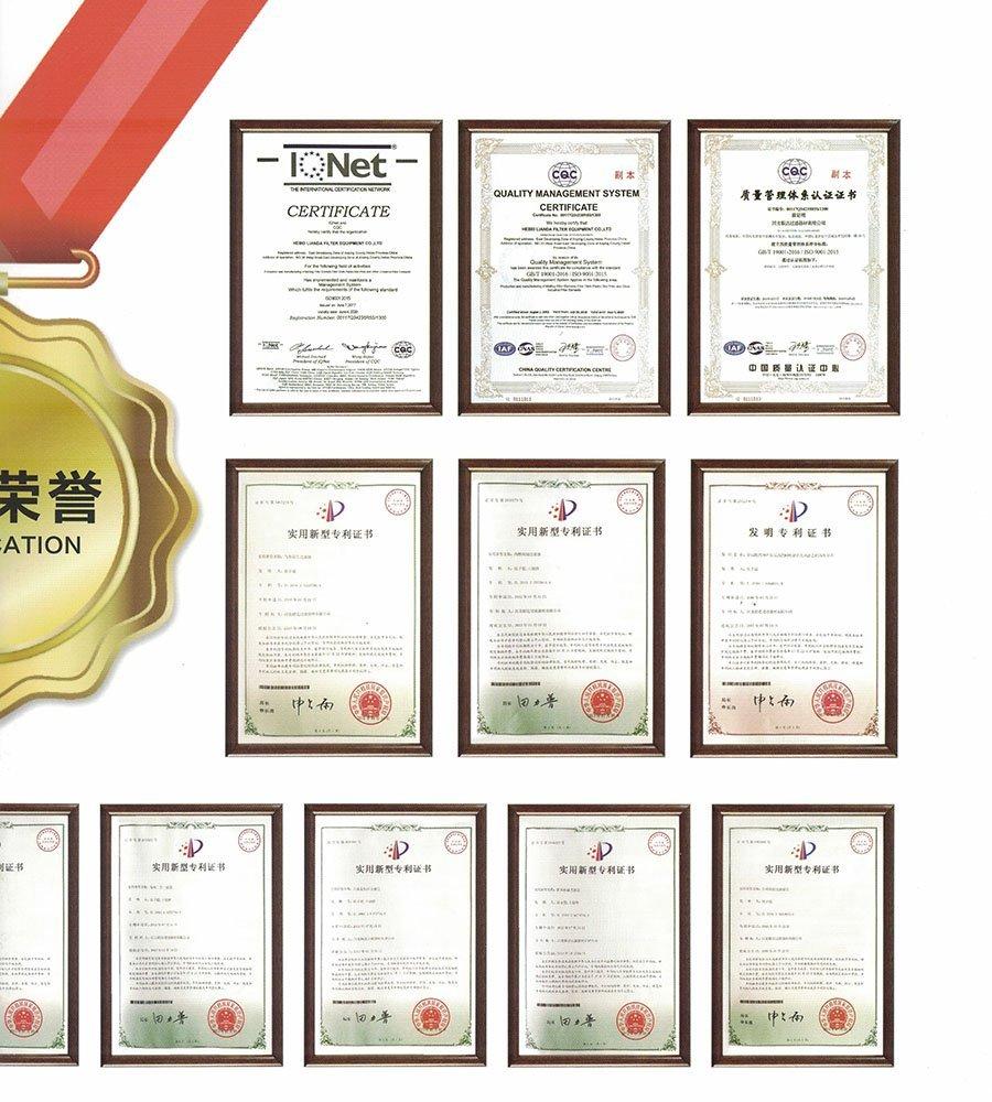 Certificate of Lianda Filter (2)