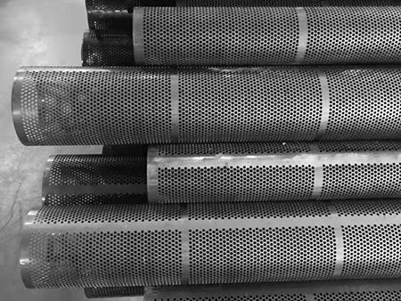 Duplex 2205 2507 stainless steel perforated metal filter tube