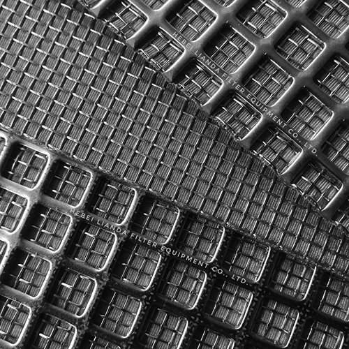 Industrial filter element - sintered wire mesh with perforated metal
