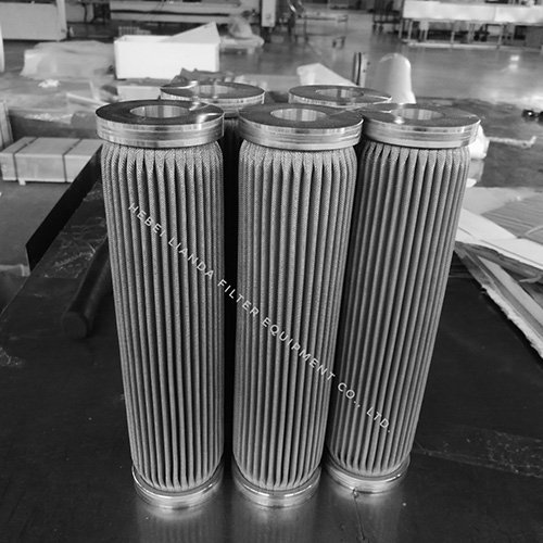 Stainless steel filter cartridges - pleated wire mesh filter