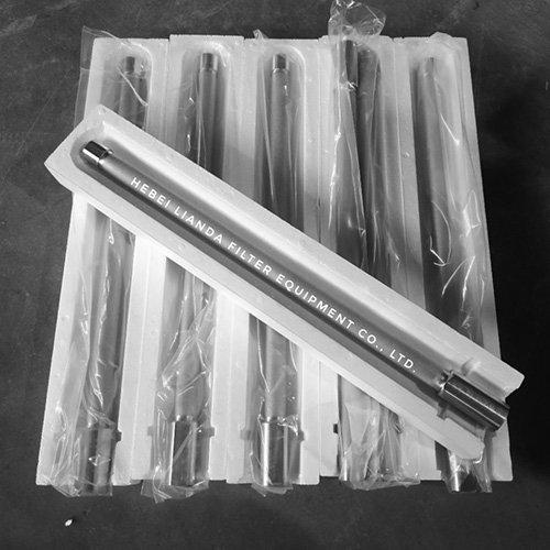 Sintered metal powder filter candle